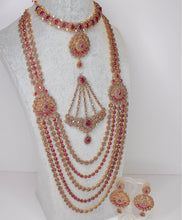 Load image into Gallery viewer, Rachel Semi Precious Bridal set