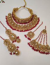 Load image into Gallery viewer, Pre Order - Sehrish Bridal Double Neckace set