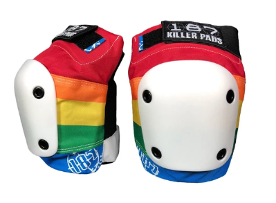 187 Slim Rainbow Knee Pads