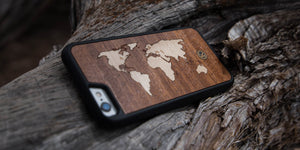 The Atlas Wood iPhone case by Keyway for the iPhone 6