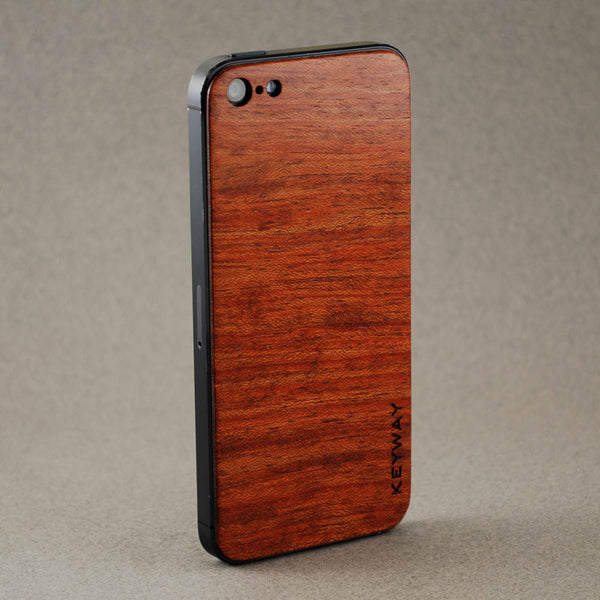 wood iPhone Adhesive Back, Bubinga