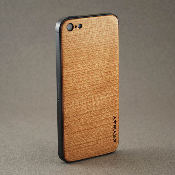 wood iPhone Adhesive Back, Cherry