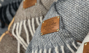 Close-up of Keyway's Luxury Alpaca Wool Camp Blankets