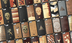 Collection of different Wood iPhone Cases by Keyway