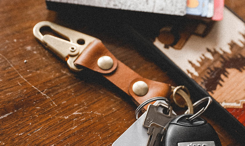 Top-notch full-grain leather keychains to keep you organized and looking good.