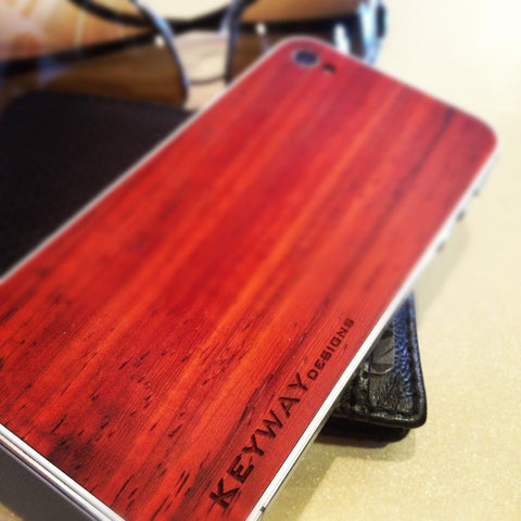 Padauk wood iPhone Back Cover