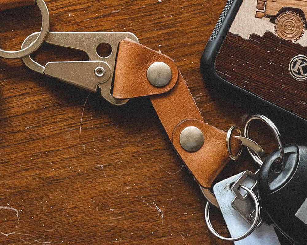 Keyway Leather & Brass Keychain Selection