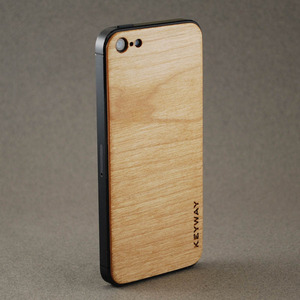 wood iPhone Adhesive Back, Maple