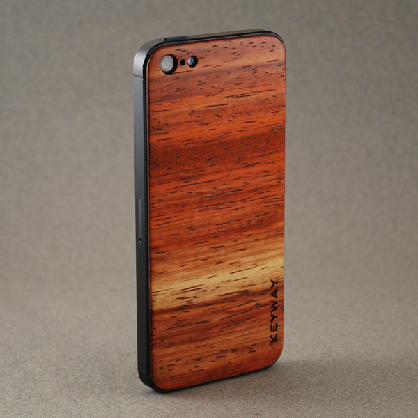 wood iPhone Adhesive Back, Padauk