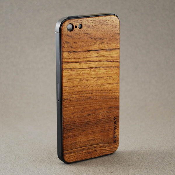 wood iPhone Adhesive Back, Teak