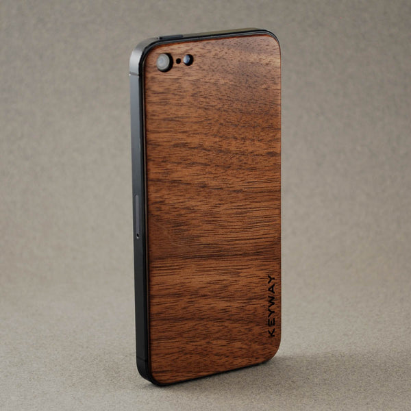 wood iPhone Adhesive Back, Walnut