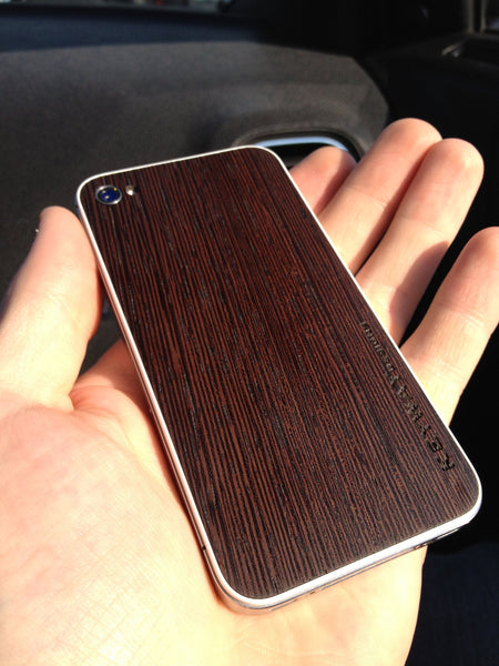 Wenge wood iPhone Cover , BackBoard