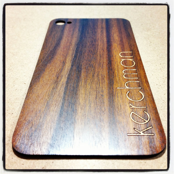Custom Review wood iPhone Back