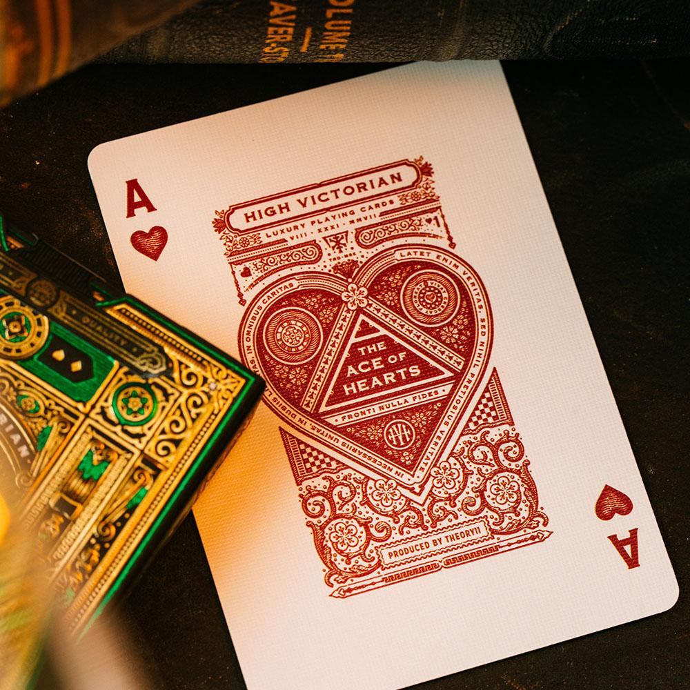 KEYWAY | Theory 11 - High Victorian Premium Playing Cards Unique Ace of Hearts