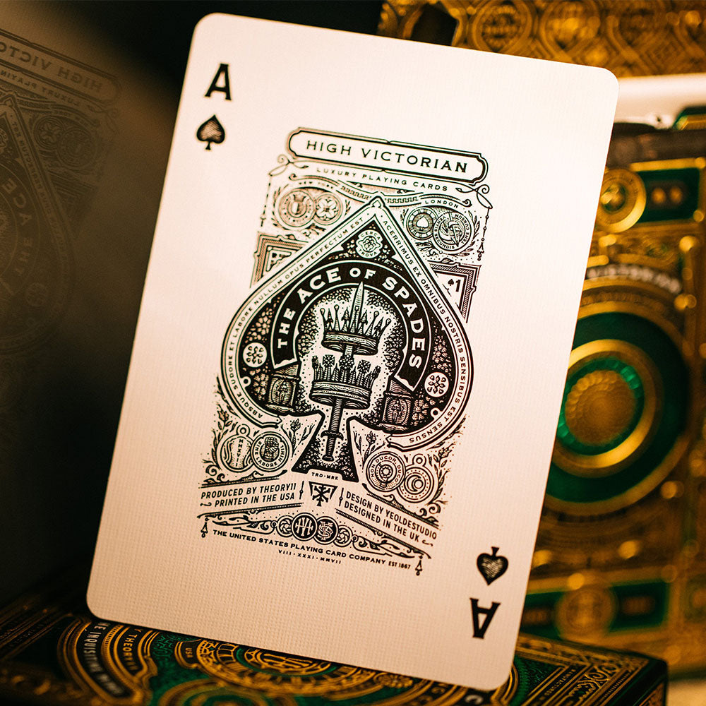 KEYWAY | Theory 11 - High Victorian Premium Playing Cards Unique Ace of Spades