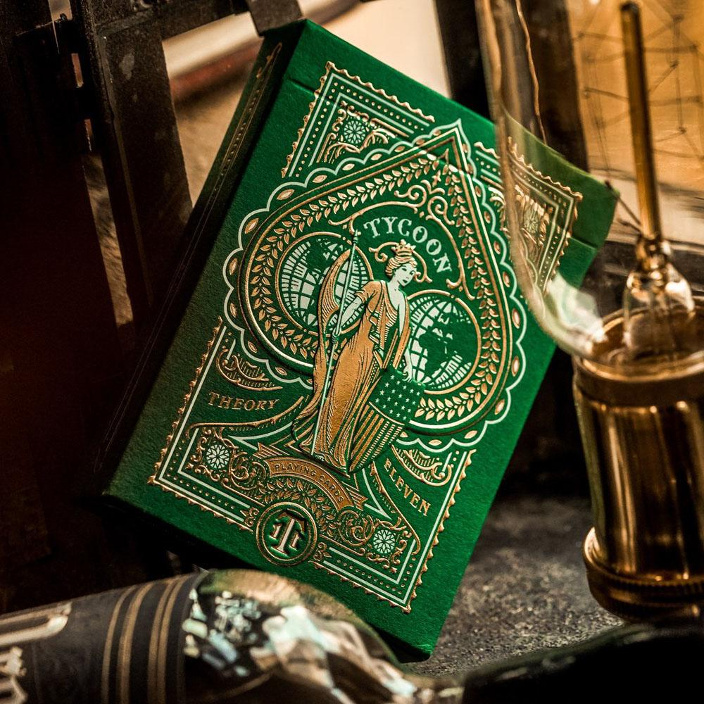 KEYWAY | Theory 11 - Green Tycoon Premium Playing Cards Detailed Embossing