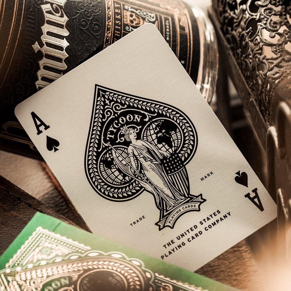 KEYWAY | Theory 11 - Green Tycoon Premium Playing Cards Unique Ace of Spades