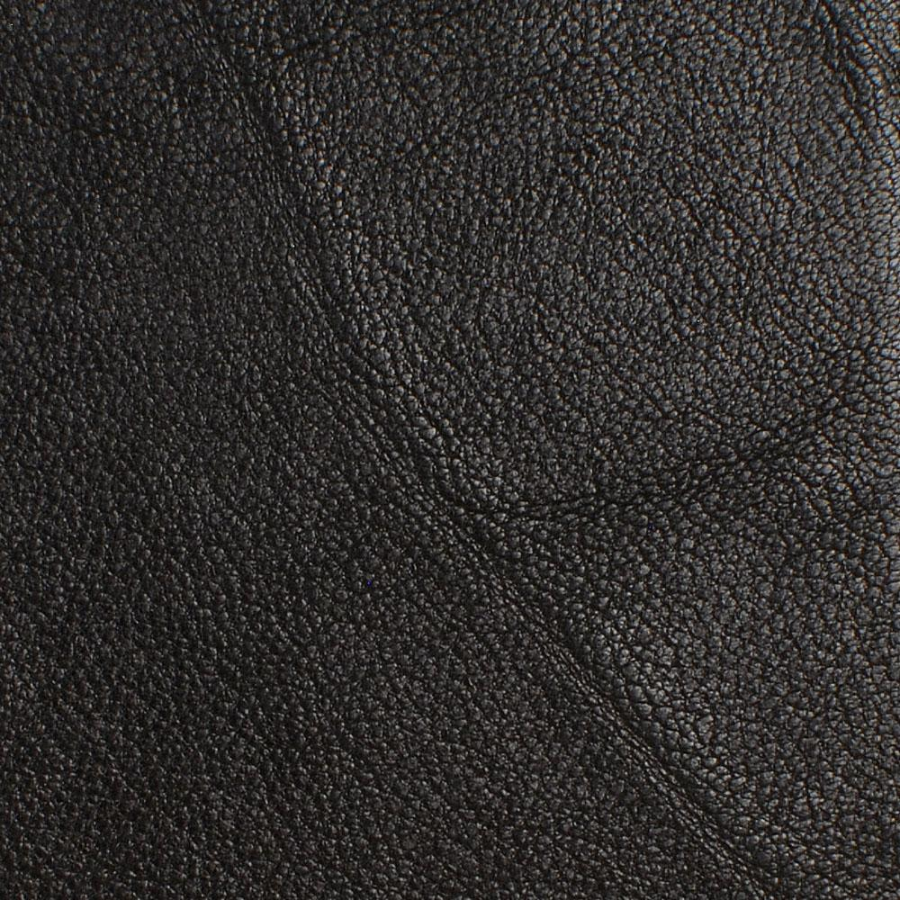 Zoomed in detailed shot of the Blank Black Leather iPhone 11 Case by Keyway Designs