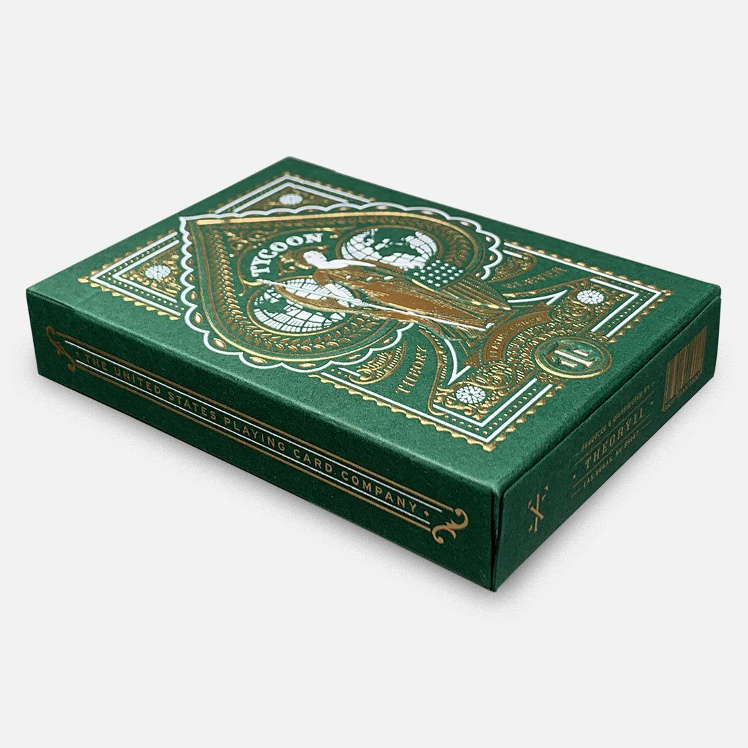 KEYWAY | Theory 11 - Green Tycoon Premium Playing Cards Angled Box