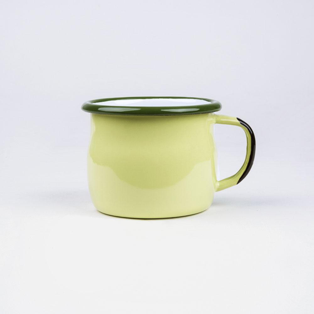 KEYWAY | Emalco - Acadia Bellied Enamel Mug, Handcrafted by Artisans in Poland, Back View