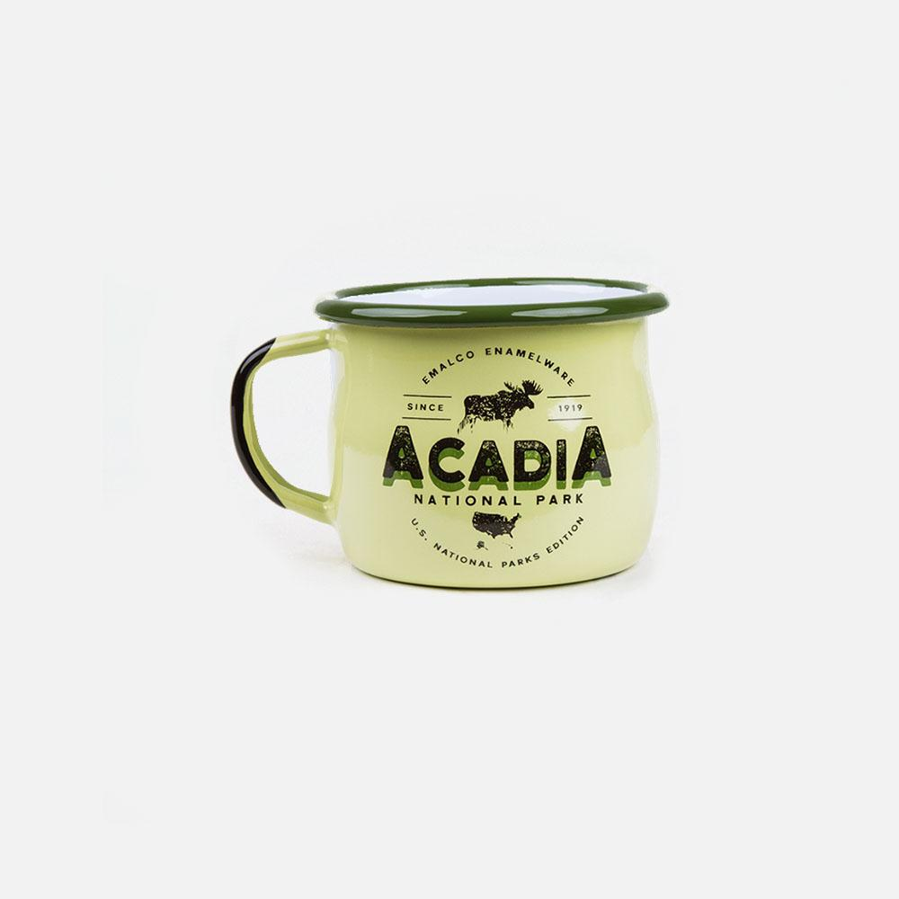 KEYWAY | Emalco - Acadia Bellied Enamel Mug, Handcrafted by Artisans in Poland, Front View