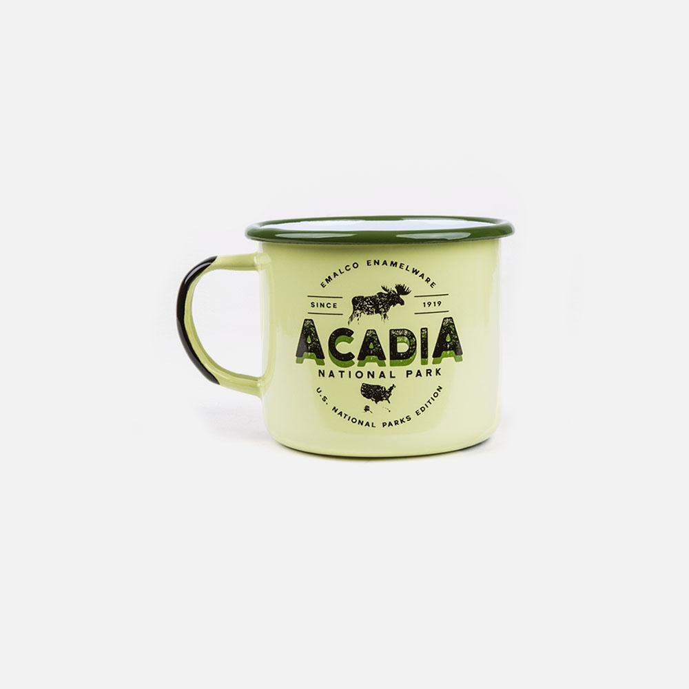 KEYWAY | Emalco - Acadia Large Enamel Mug, Handcrafted by Artisans in Poland, Front View