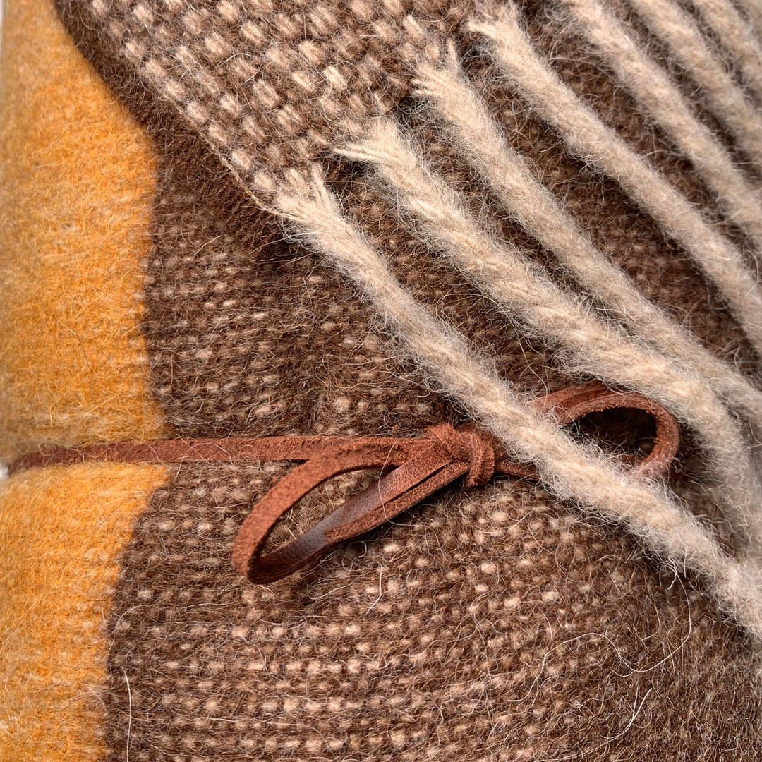 Alpaca Wool Blanket - Harvest