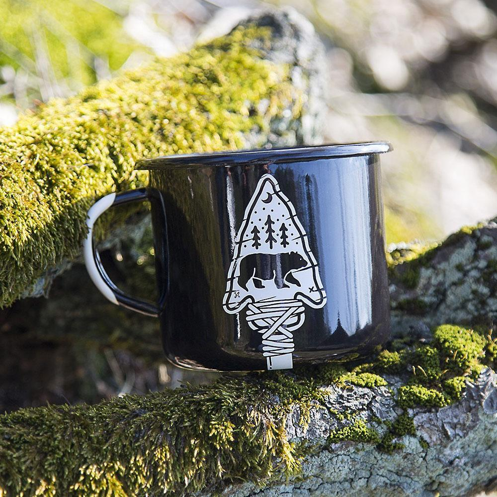 KEYWAY | Emalco - Wisdom Arrow Enamel Mug, Handcrafted by Artisans in Poland