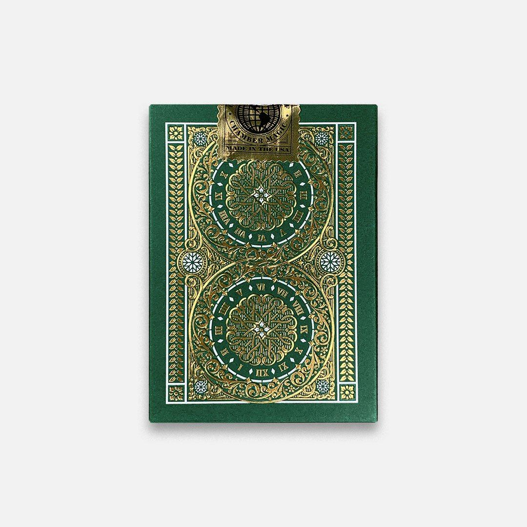 KEYWAY | Theory 11 - Green Tycoon Premium Playing Cards Flat Back View