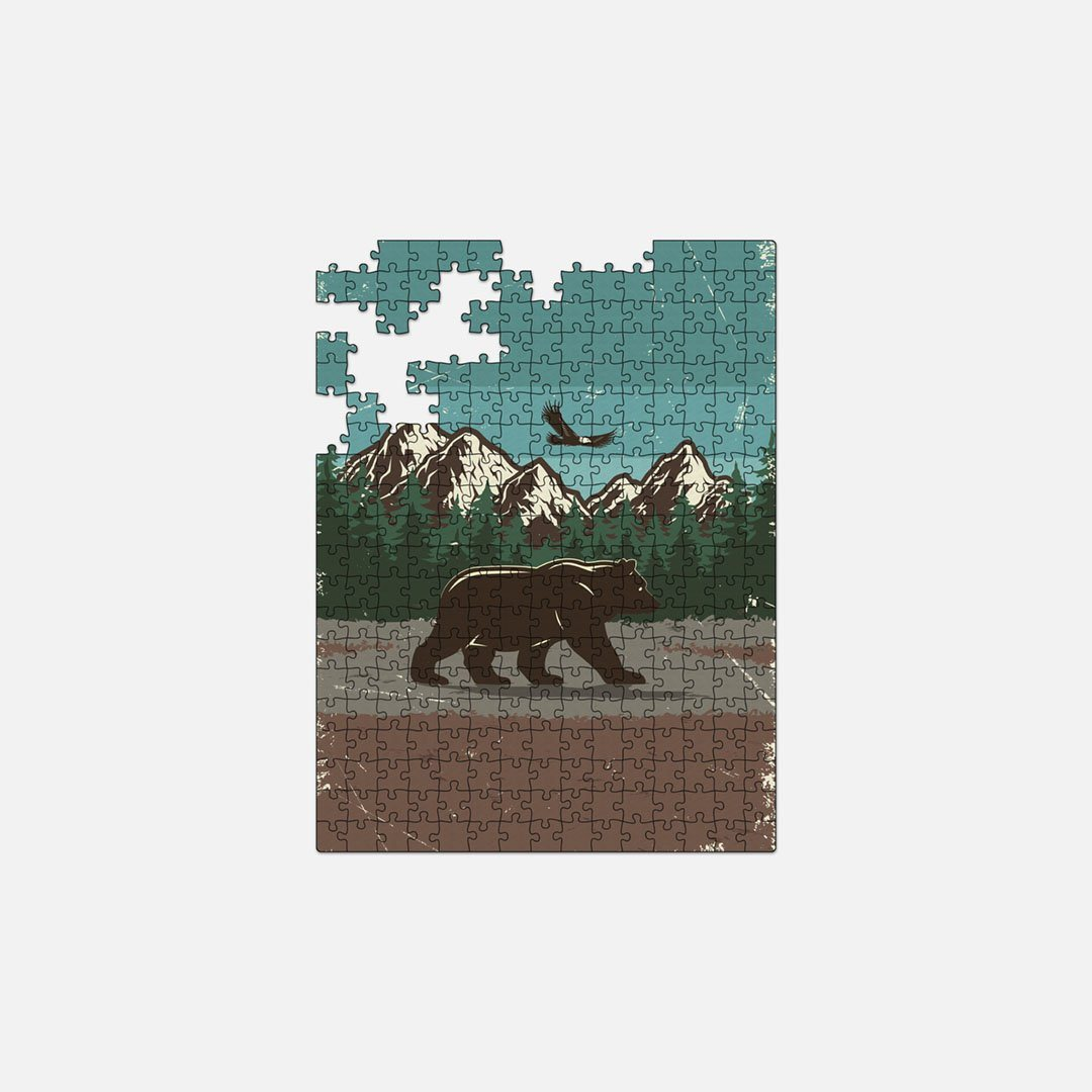 Keyway's Wood Lasercut Jigsaw Puzzle, Bear Tracks