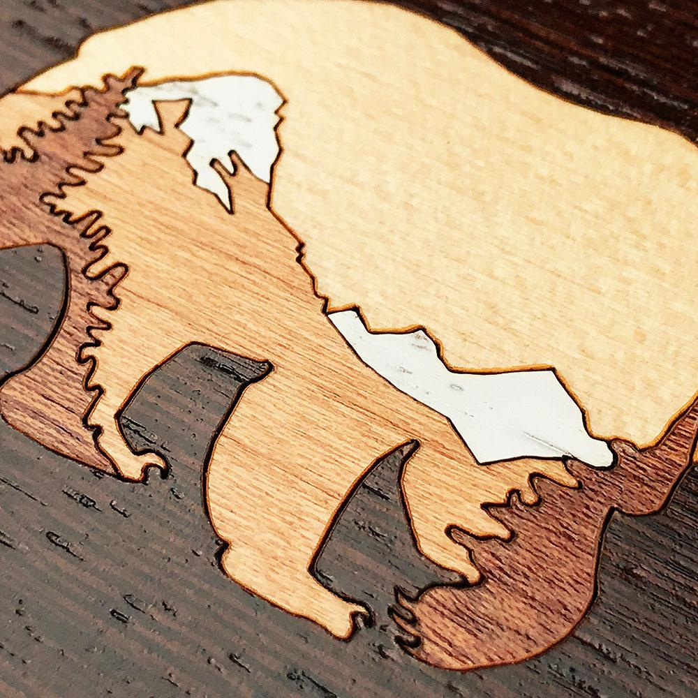 Zoomed in detailed shot of the Bear Mountain Wood iPhone 6 Plus Case by Keyway Designs