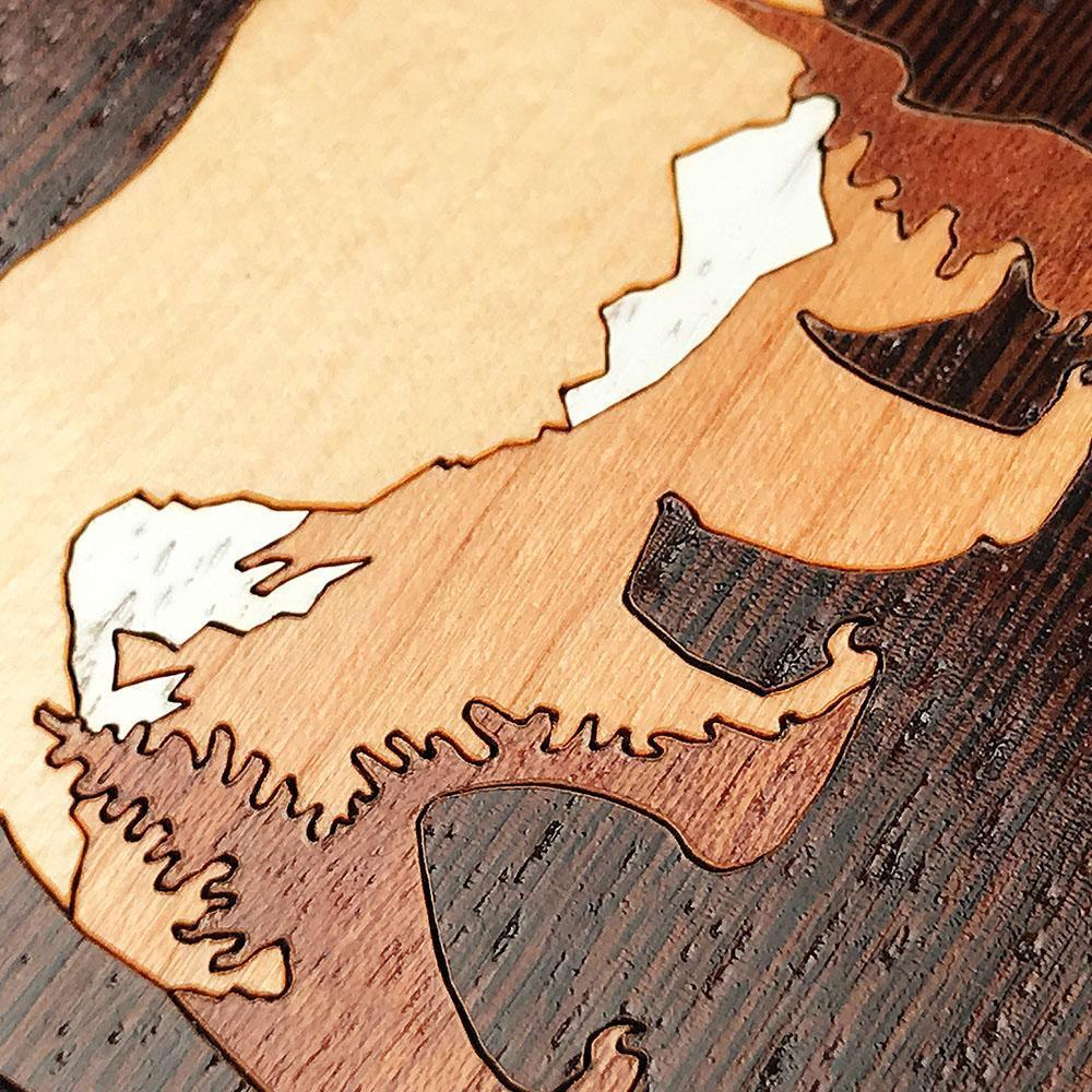 Zoomed in detailed shot of the Bear Mountain Wood iPhone 11 Case by Keyway Designs