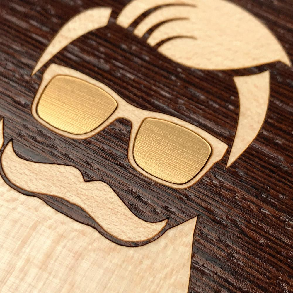 Zoomed in detailed shot of the Stag Wenge Wood iPhone 5 Case by Keyway Designs