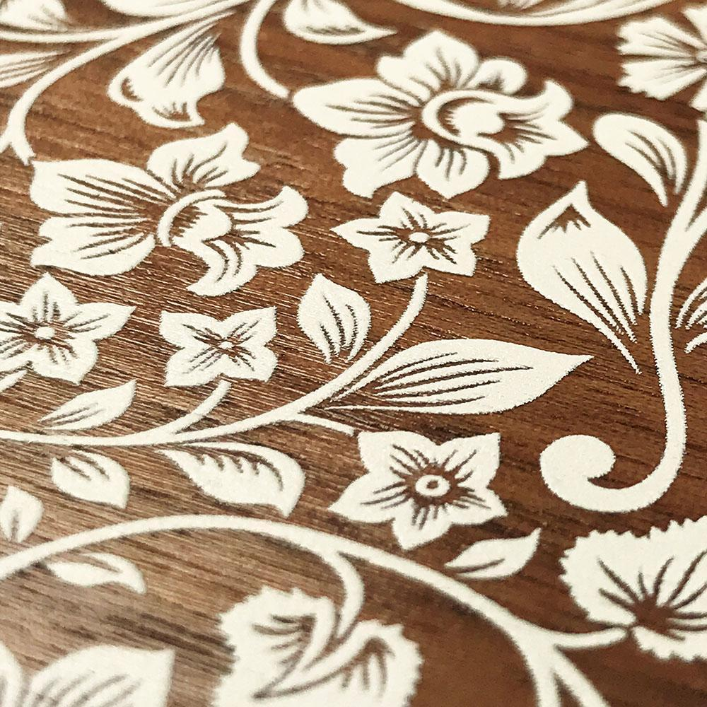 Zoomed in detailed shot of the Blossom Whitewash Wood iPhone 11 Pro Case by Keyway Designs