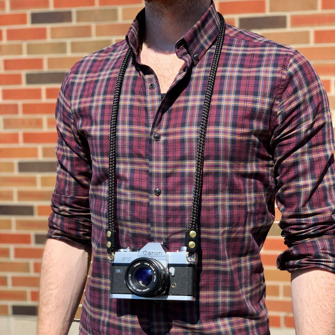 Keyway Camera Neck Strap, Designed to hang below the chest.