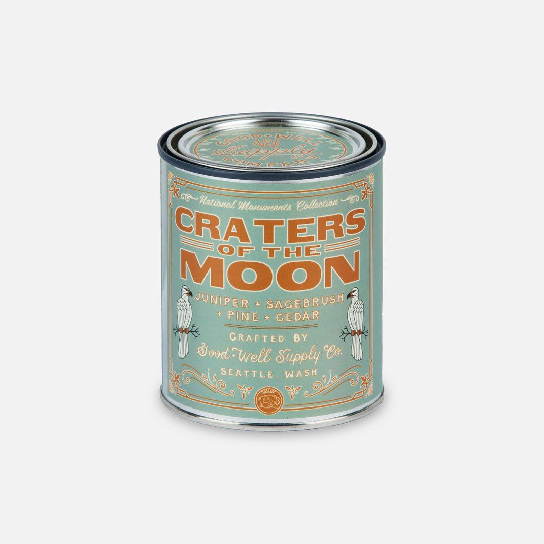 Keyway brings The Craters of the Moon National Monument Candle from Good & Well Supply Co.