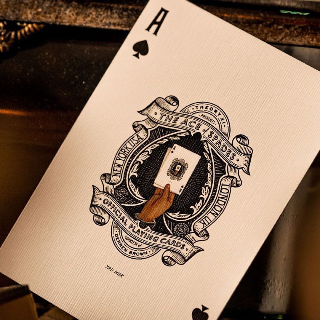 KEYWAY | Theory 11 - Derren Brown Premium Playing Cards close-up Ace of Spades