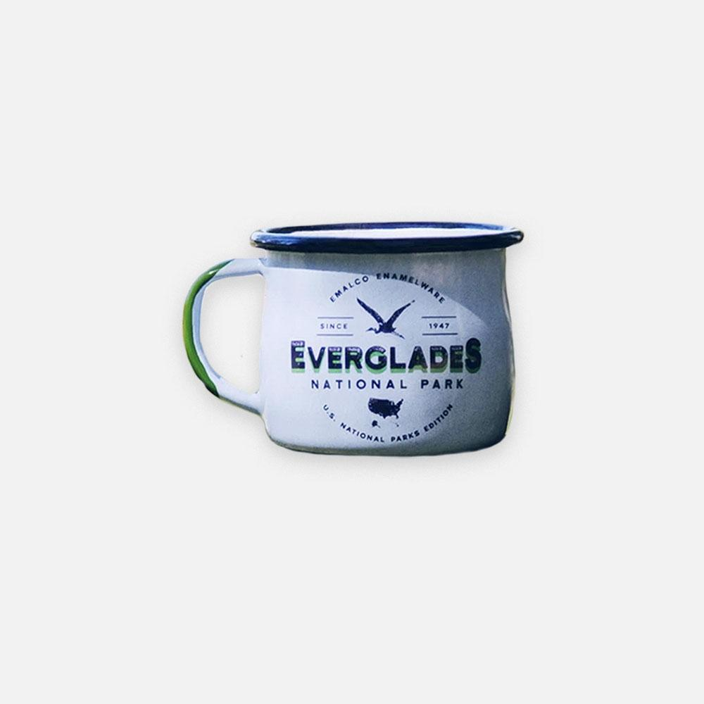 KEYWAY | Emalco - Everglades Bellied Enamel Mug, Handcrafted by Artisans in Poland, Front View