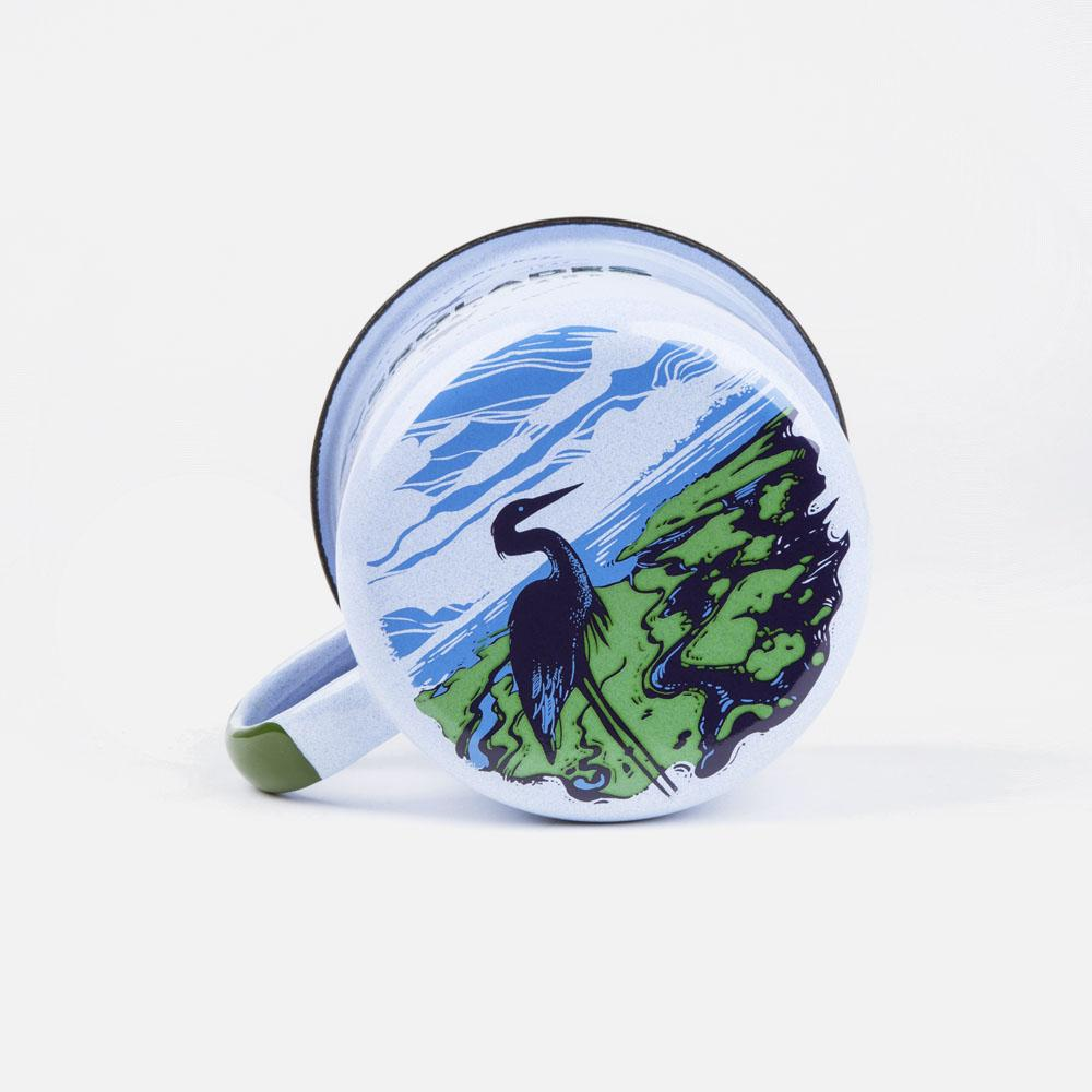 KEYWAY | Emalco - Everglades Bellied Enamel Mug, Handcrafted by Artisans in Poland, Bottom Print View
