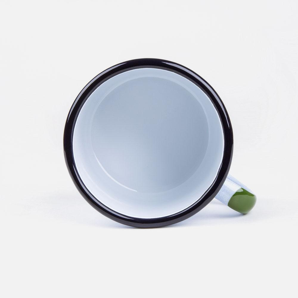 KEYWAY | Emalco - Everglades Bellied Enamel Mug, Handcrafted by Artisans in Poland, Inside View