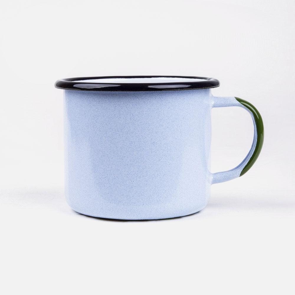 KEYWAY | Emalco - Everglades Large Enamel Mug, Handcrafted by Artisans in Poland, Back View