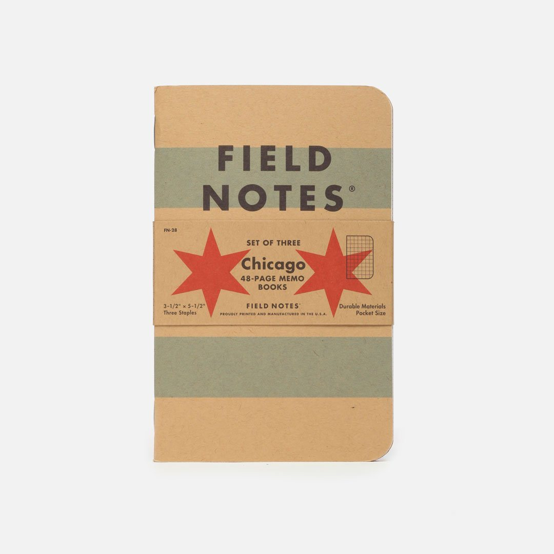 Field Notes - Chicago, USA Made Pocket Notebook, Front View
