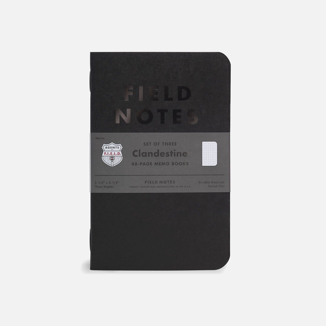 Field Notes - Clandestine, USA Made Pocket Notebook, Front View