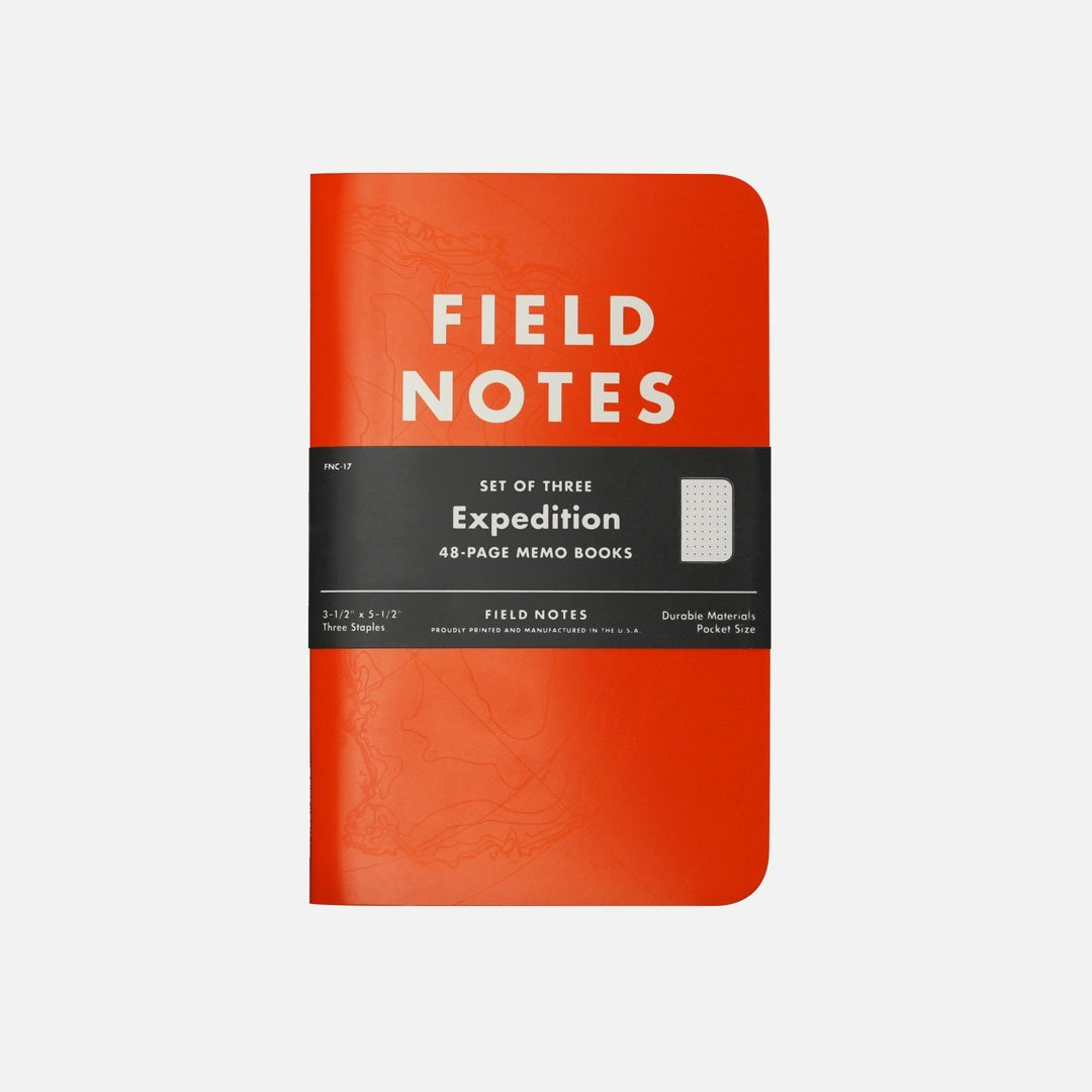 Field Notes - Expedition, USA Made Pocket Notebook, Front View