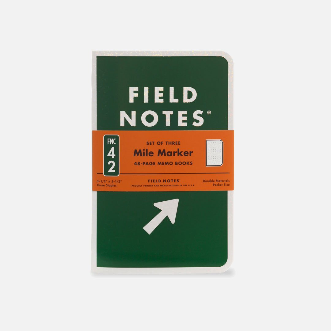 Field Notes - Mile Marker, USA Made Pocket Notebook, Front View