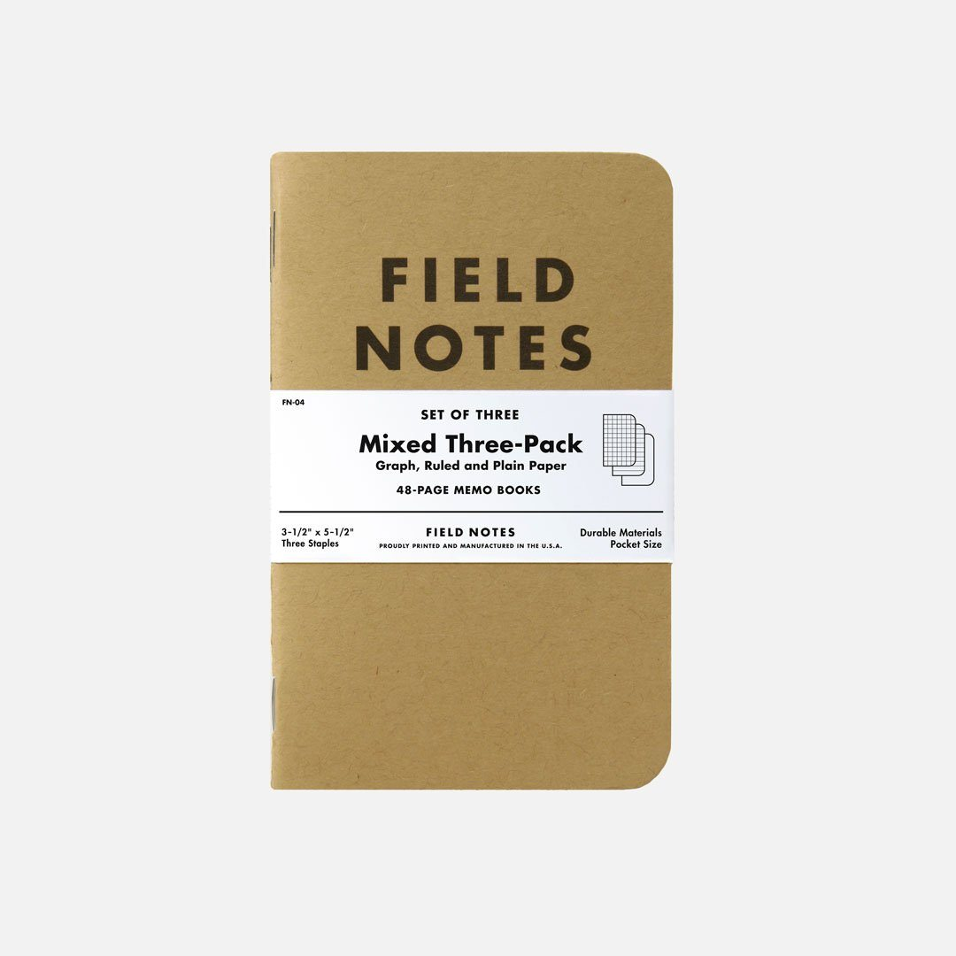 Field Notes - Original Mix, USA Made Pocket Notebook, Front View