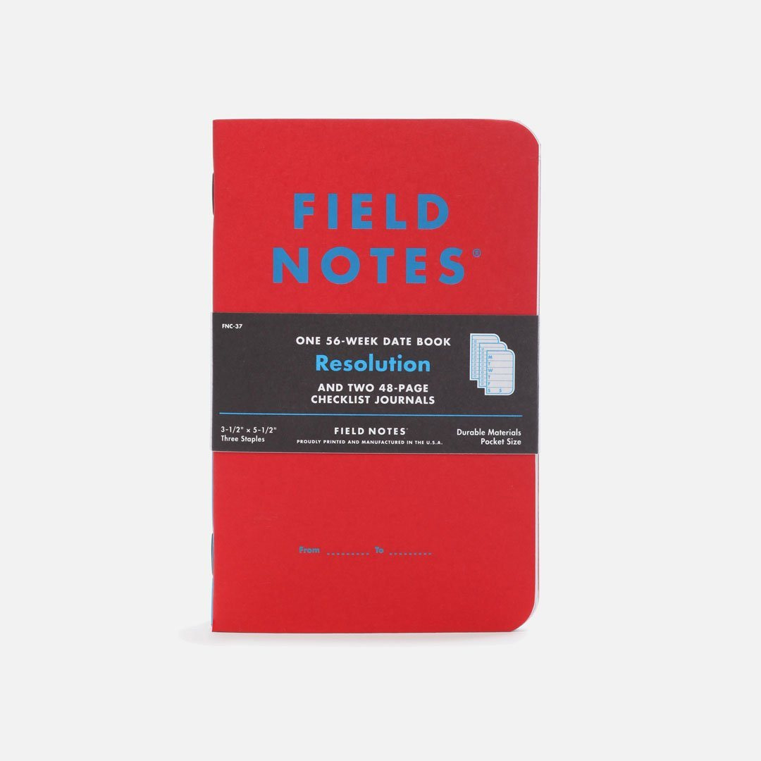 Field Notes - Resolution, USA Made Pocket Notebook, Front View