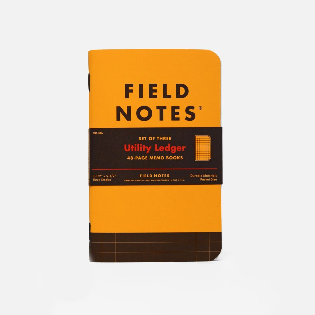 Field Notes - Utility Ledger, USA Made Pocket Notebook, Front View