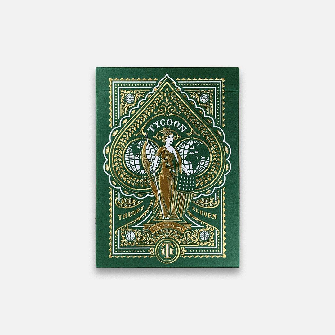 KEYWAY | Theory 11 - Green Tycoon Premium Playing Cards Flat Front View