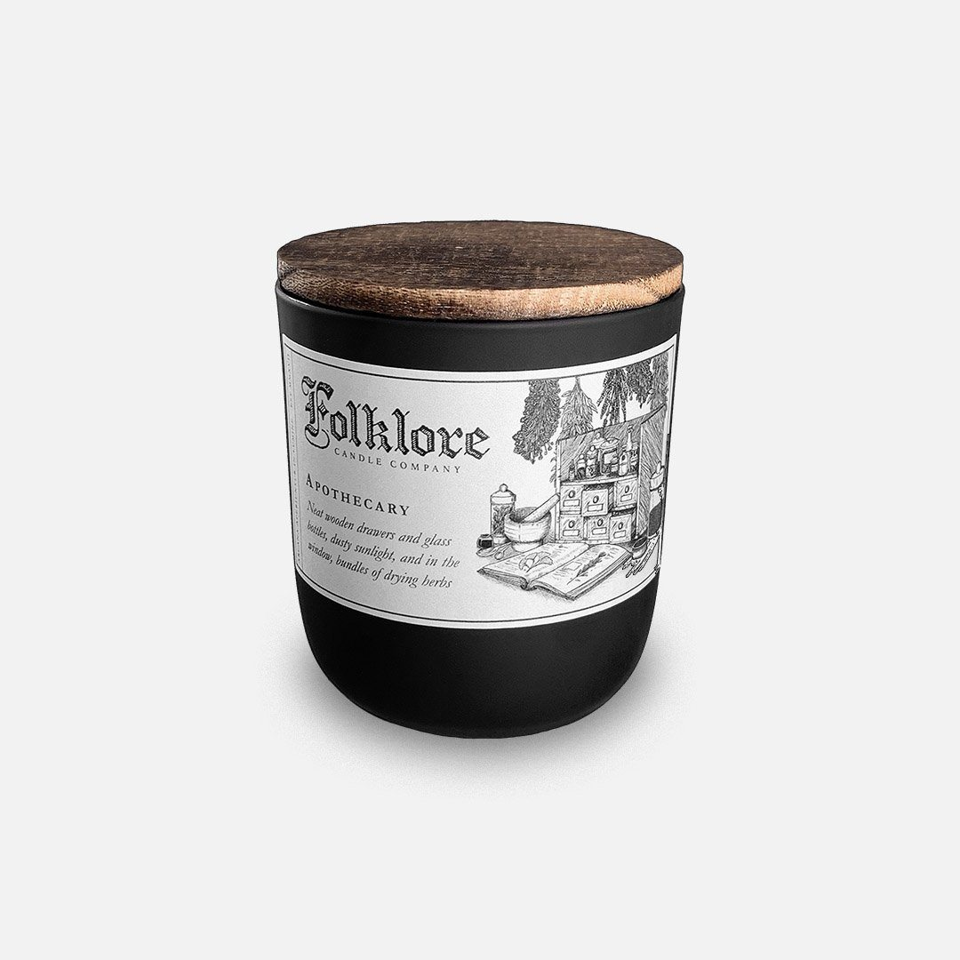 Folklore Candle - Apothecary Soy Wax Jar Candle Header Shot